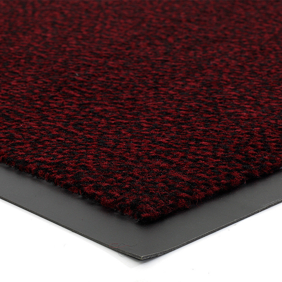 Červená metrážová čistící vnitřní vstupní rohož (lem - 2 strany) Mars, FLOMA - délka 1 cm a výška 0,5 cm