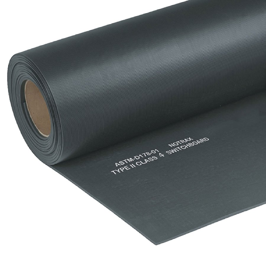 Černá elektroizolační průmyslová rohož Switchboard, Class 4 - 150 x 91 x 1,27 cm