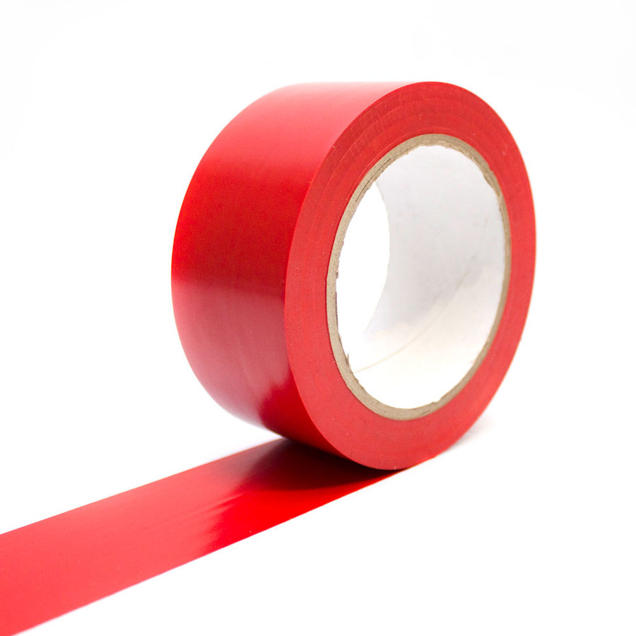 Červená vyznačovací podlahová páska - 33 m x 5 cm (80000289)