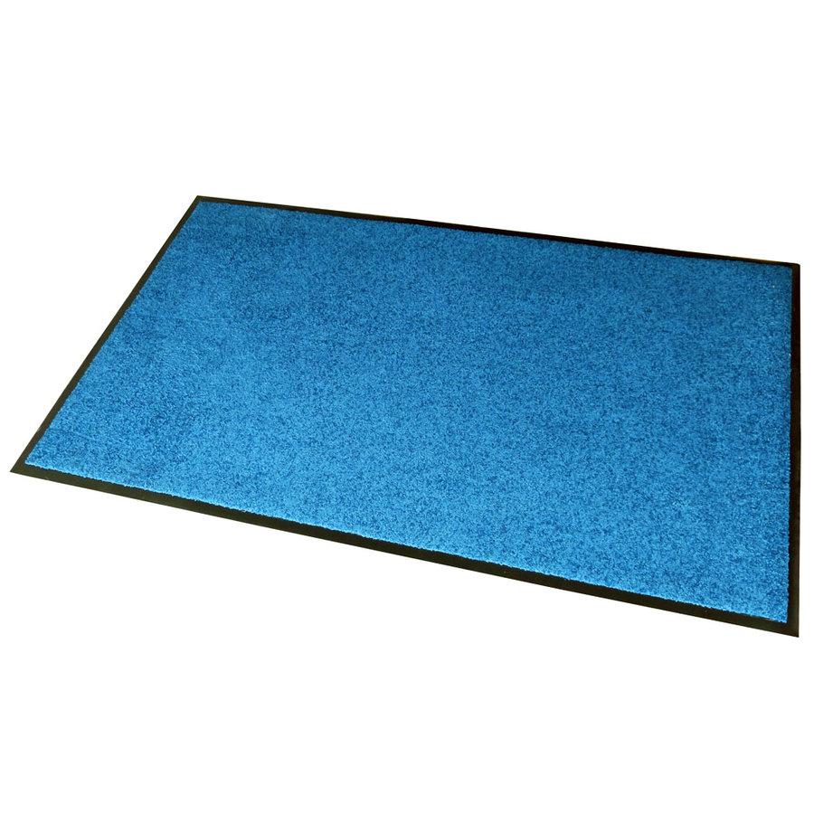 Modrá textilní vstupní vnitřní čistící rohož Twister - délka 80 cm, šířka 120 cm a výška 0,7 cm