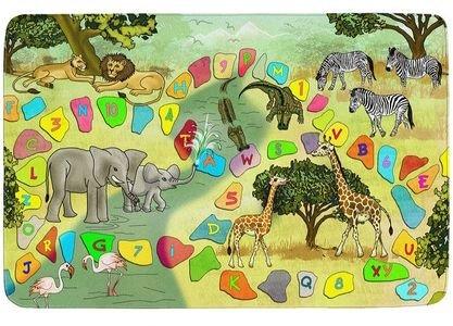 Různobarevný hrací kusový dětský koberec Ultra Soft - délka 160 cm a šířka 110 cm