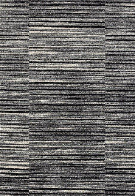 Antracitový kusový moderní koberec Rixos