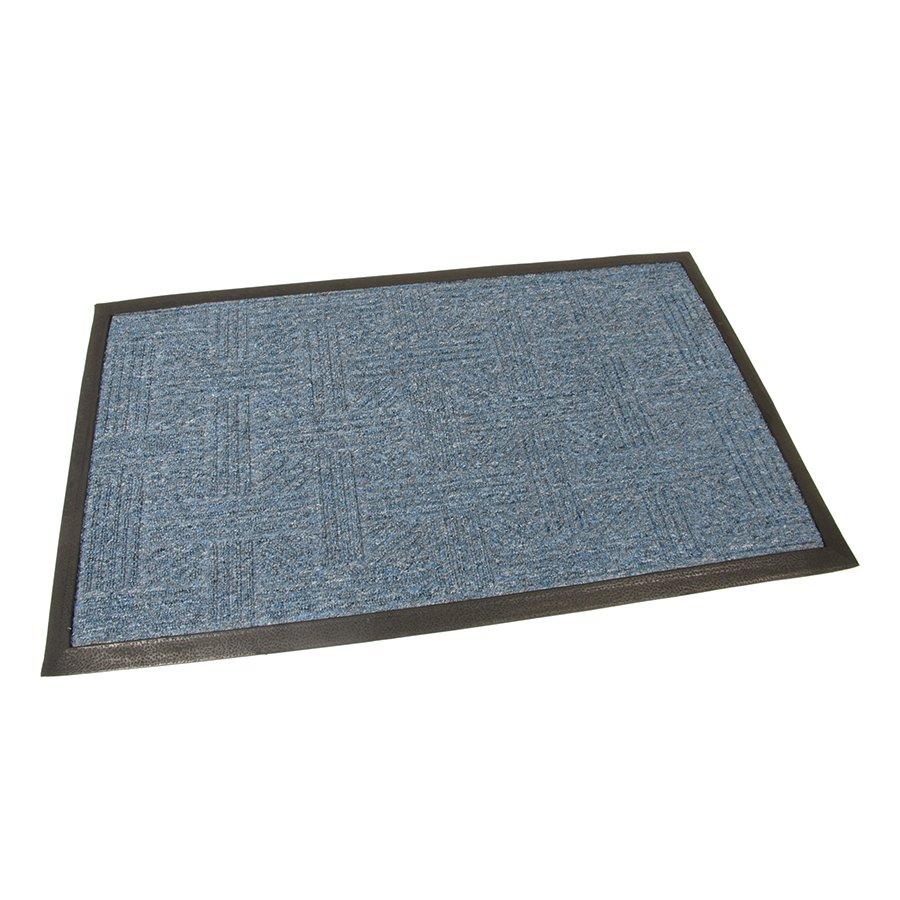 Modrá textilní vstupní venkovní čistící rohož Crossing, FLOMA - délka 45 cm, šířka 75 cm a výška 0,8 cm