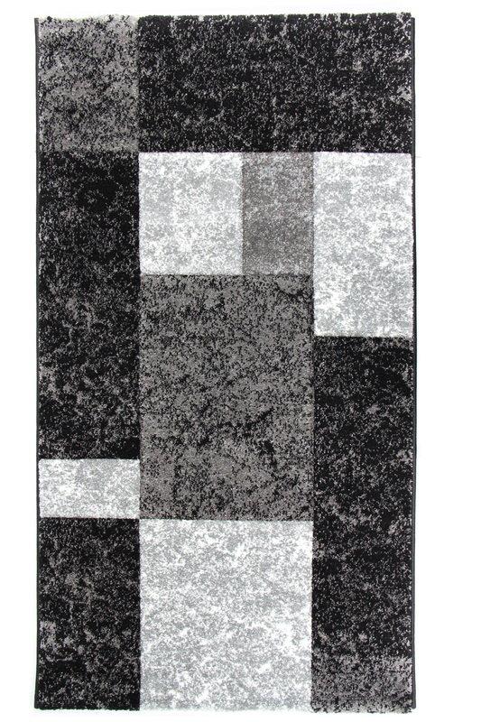 Černý kusový moderní koberec Hawaii - délka 170 cm a šířka 120 cm