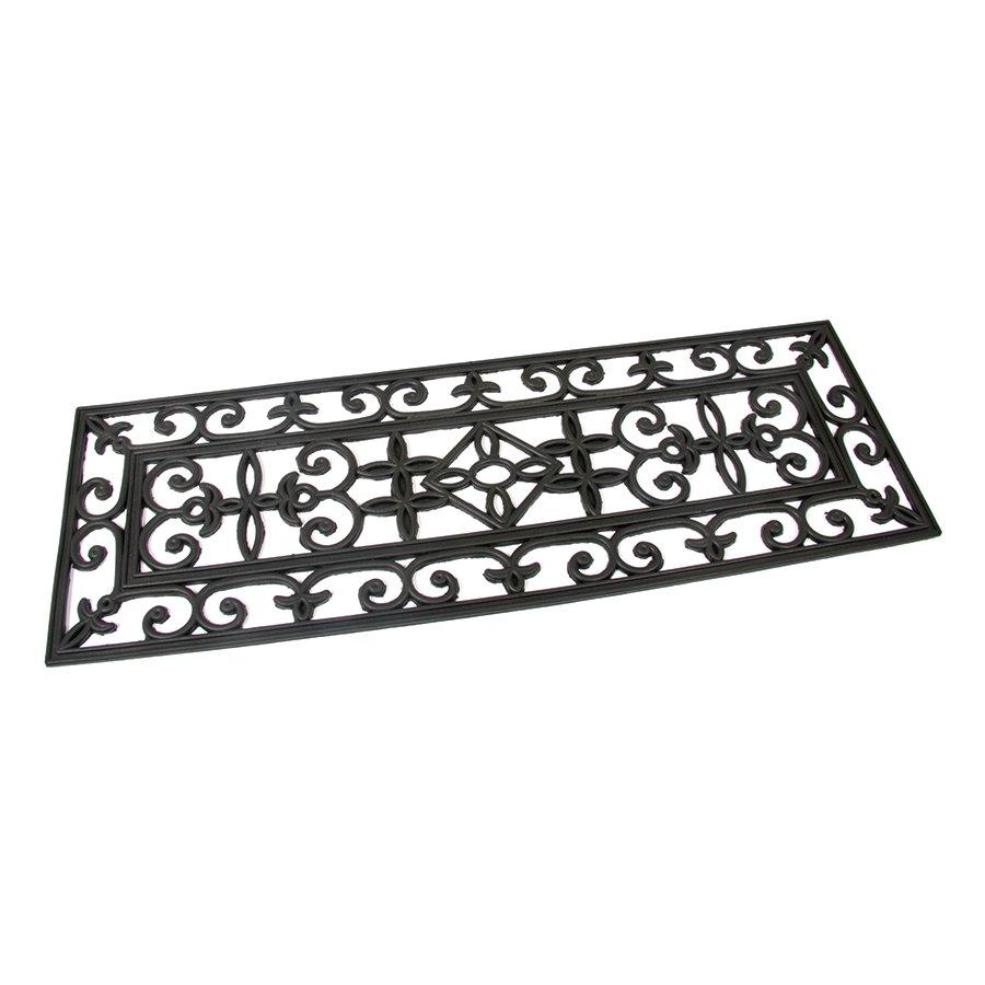 Gumová čistící schodová venkovní vstupní rohož Deco, FLOMAT - délka 75 cm, šířka 25 cm a výška 0,8 cm