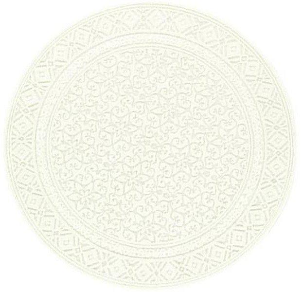 Béžový moderní luxusní kusový kulatý koberec Metro - průměr 160 cm