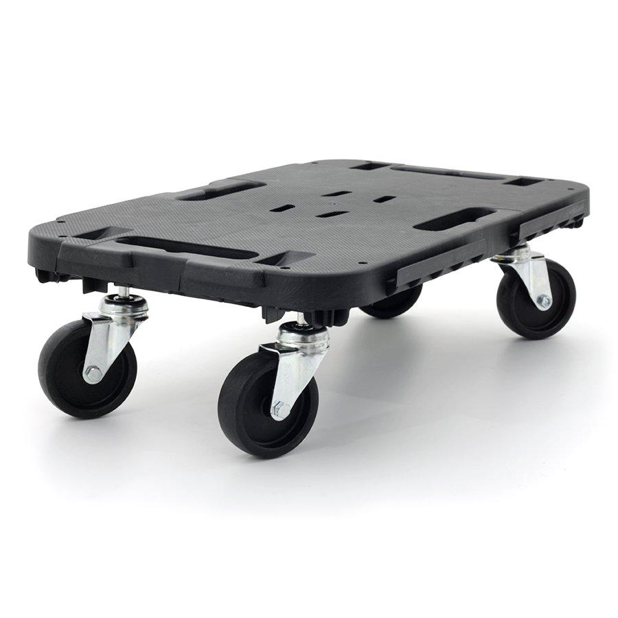 Černá plastová transportní stěhovací plošina Linea Dolly - nosnost 300 kg, délka 48 cm, šířka 29 cm a výška 12,5 cm