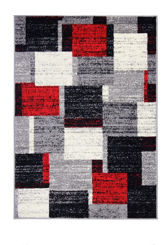 Černý kusový koberec Armoni - délka 170 cm a šířka 120 cm