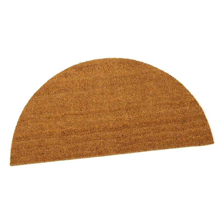 Kokosová čistící venkovní vnitřní vstupní přírodní půlkruhová rohož Dream - délka 90 cm, šířka 50 cm a výška 1,5 cm