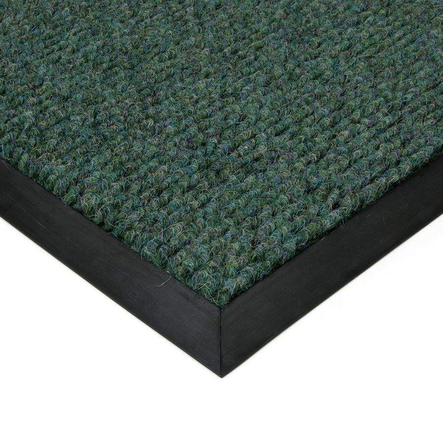 Zelená textilní zátěžová čistící vnitřní vstupní rohož Catrine, FLOMAT - délka 120 cm, šířka 170 cm a výška 1,35 cm