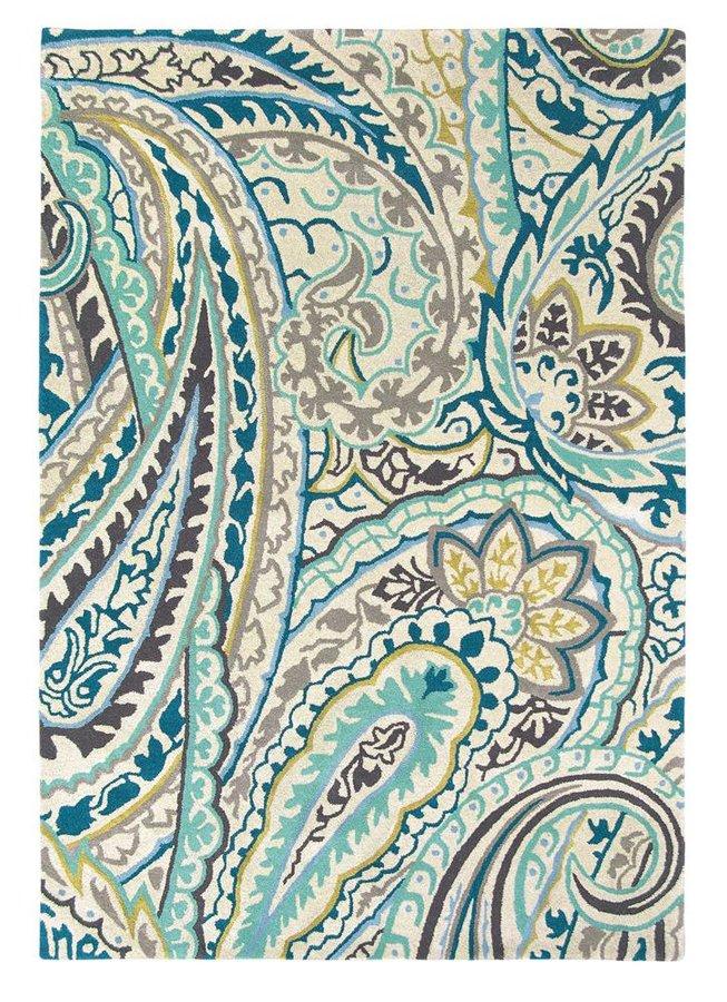 Světle modrý kusový moderní koberec Kashmir