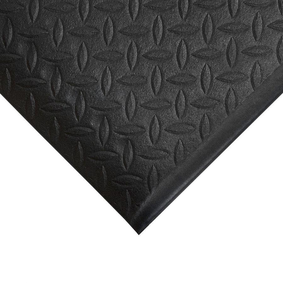 Černá gumová protiskluzová protiúnavová průmyslová rohož - 90 x 60 x 0,9 cm (80000600)
