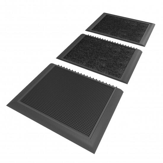 Černá gumová hygienická dezinfekční rohož Sani-Master - 200 x 91,4 x 1,9 cm
