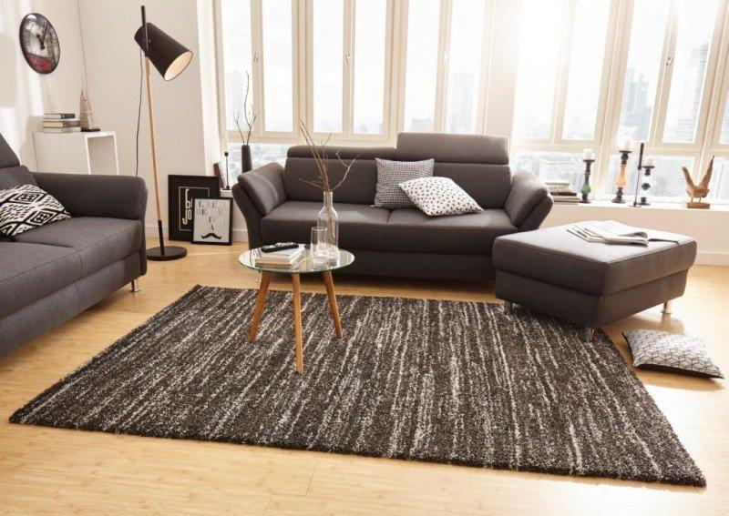 Černý moderní kusový koberec Nomadic - délka 150 cm a šířka 80 cm
