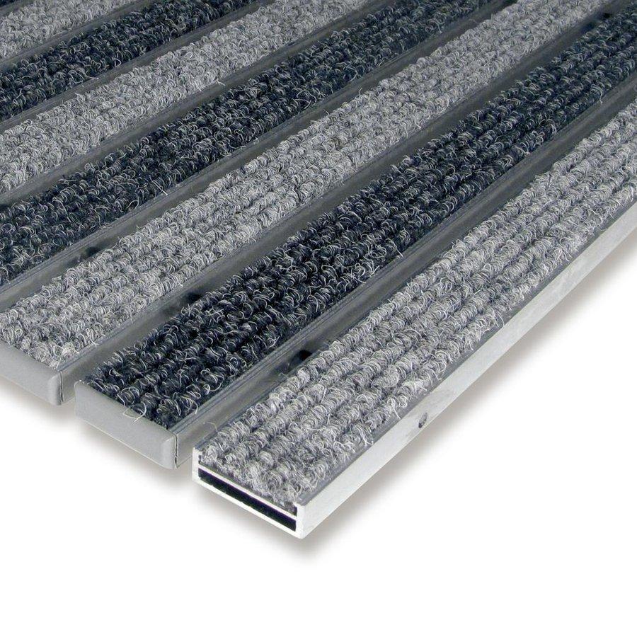 Textilní hliníková čistící vnitřní vstupní rohož Alu Low, FLOMAT - délka 100 cm, šířka 100 cm a výška 1 cm
