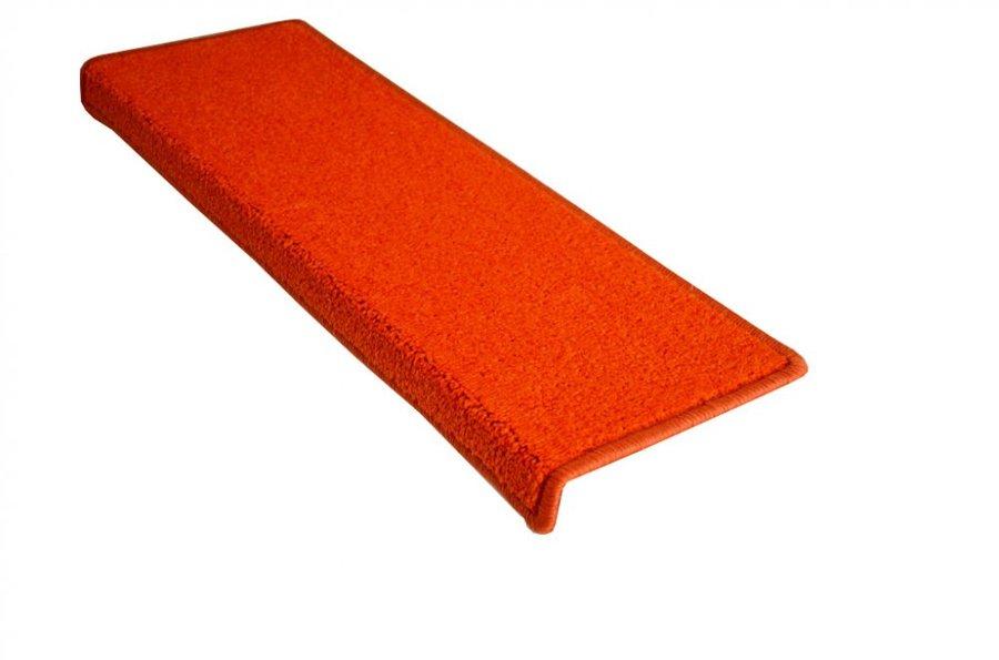 Oranžový kobercový obdélníkový nášlap na schody Eton - délka 65 cm a šířka 24 cm