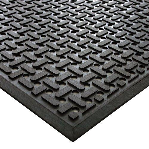 Černá kuchyňská olejivzdorná protiskluzová rohož - délka 140 cm, šířka 85 cm a výška 0,9 cm