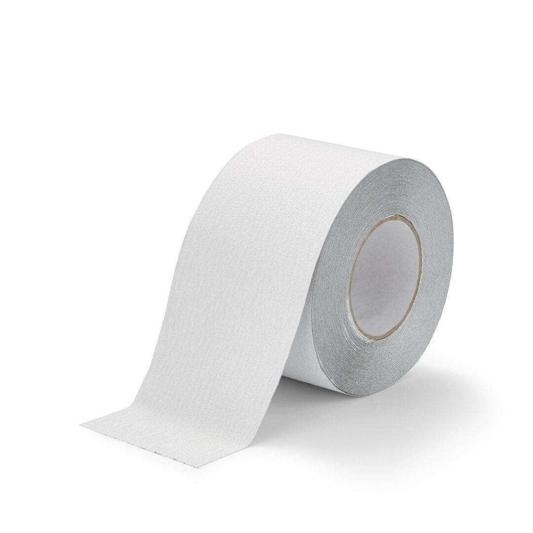 Bílá korundová protiskluzová páska FLOMA Standard - 18,3 m x 10 cm a tloušťka 0,7 mm