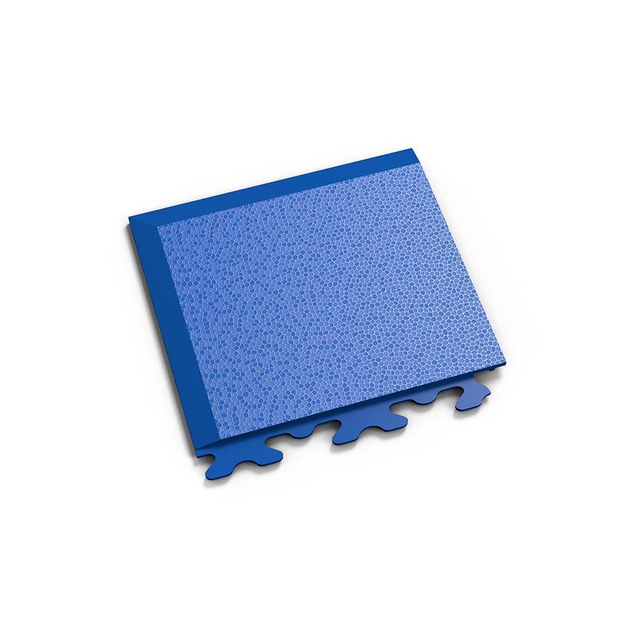 "Modrý vinylový plastový rohový nájezd ""typ A"" Invisible 2036 (hadí kůže), Fortelock - délka 14,5 cm, šířka 14,5 cm a výška 0,67 cm"