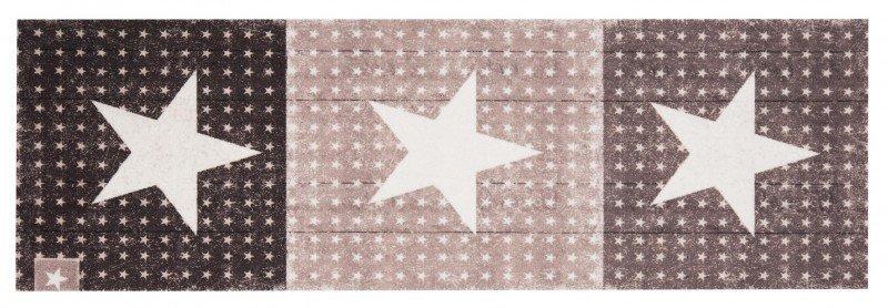 Hnědý moderní kusový koberec běhoun Cook & Clean - délka 140 cm a šířka 45 cm