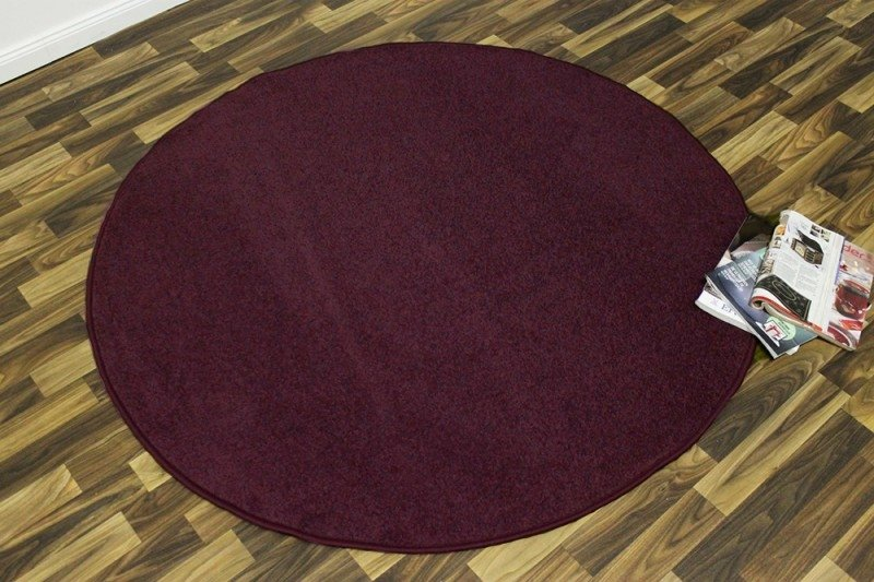 Fialový kusový kulatý koberec Nasty