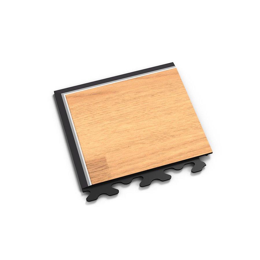 """Hnědý vinylový plastový rohový nájezd """"typ A"""" Home Decor 2116, Fortelock - délka 14,5 cm, šířka 14,5 cm a výška 0,65 cm"""