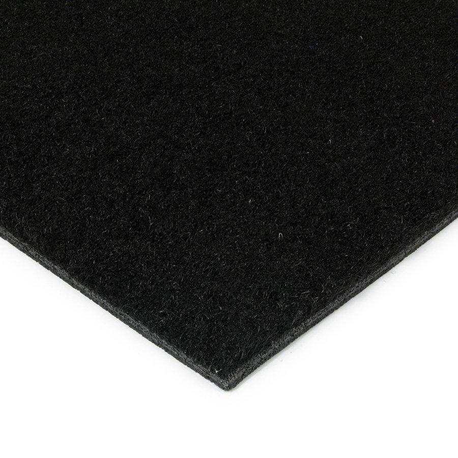 Černá kokosová zátěžová vstupní čistící zóna Synthetic Coco, FLOMAT - výška 1 cm