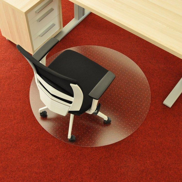Čirá podložka na koberec pod židli - délka 90 cm, šířka 90 cm a výška 0,3 cm