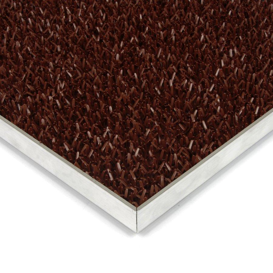Světle hnědá plastová vstupní univerzální čistící metrážová rohož Astra - šířka 91 cm a výška 1,8 cm