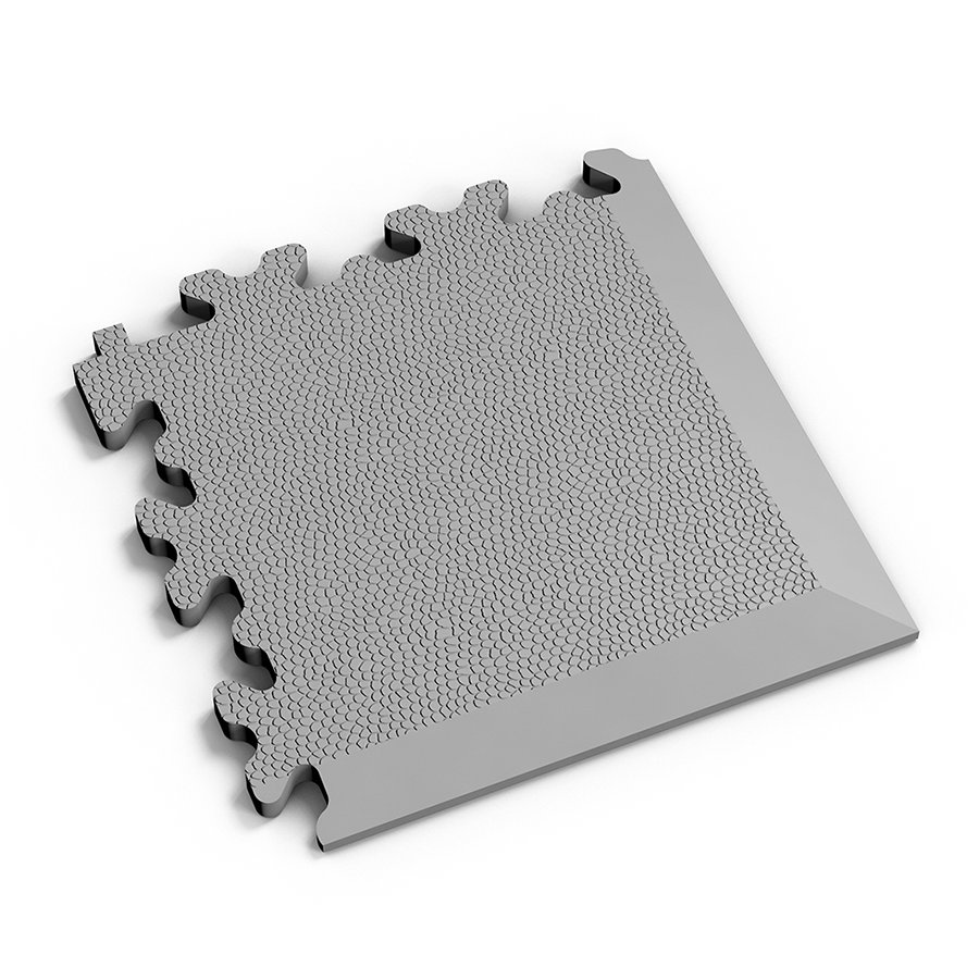 Šedý plastový vinylový rohový nájezd 2026 (kůže), Fortelock - délka 14 cm, šířka 14 cm a výška 0,7 cm