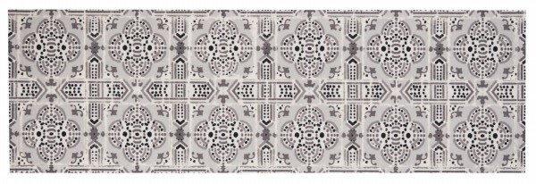 Šedý kusový moderní koberec běhoun Cook & Clean - délka 140 cm a šířka 45 cm