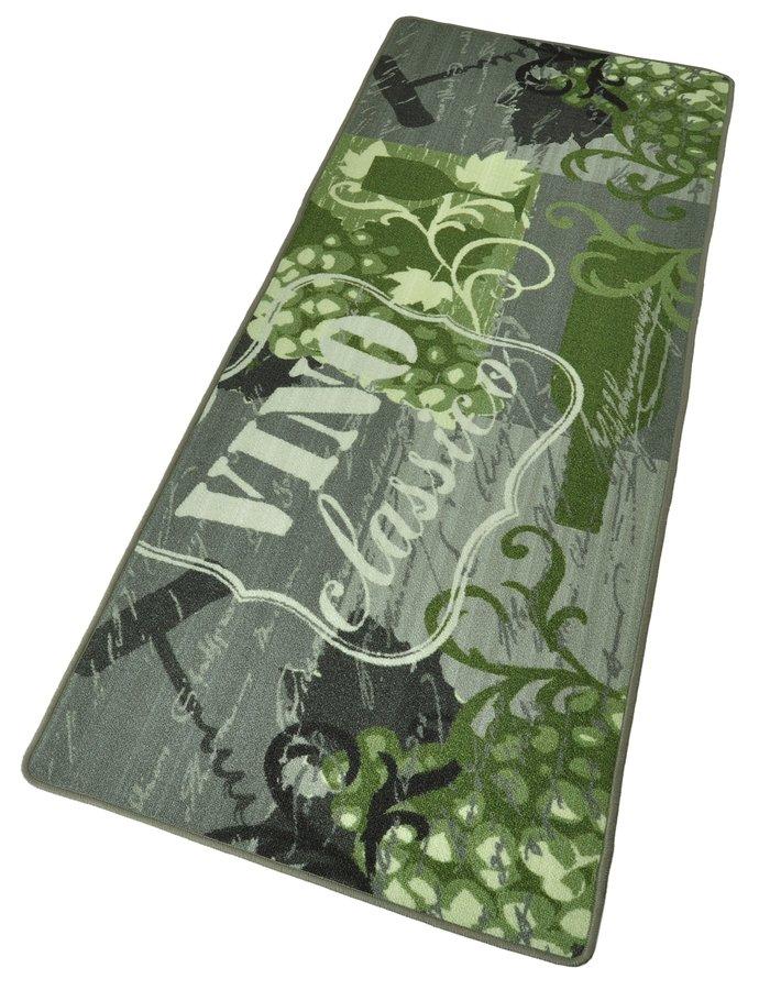 Zelená kuchyňská kusová moderní předložka Loop - délka 180 cm a šířka 67 cm