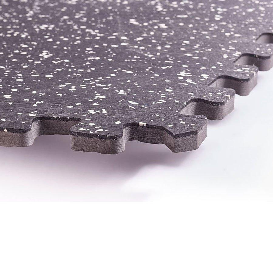 Gumová modulární univerzální podložka - délka 122 cm, šířka 122 cm a výška 1,2 cm