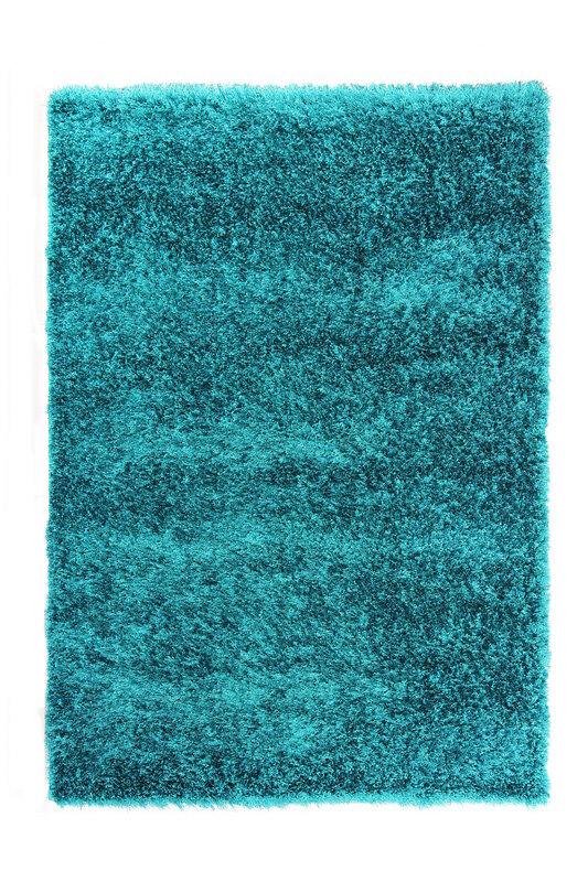 Modrý kusový koberec Bursa - délka 150 cm a šířka 80 cm