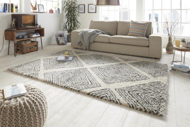 Béžový kusový moderní koberec Allure - délka 170 cm a šířka 120 cm