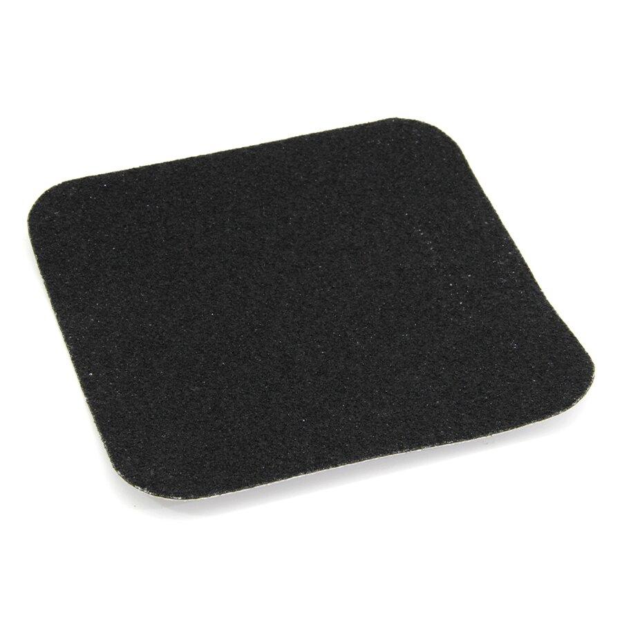 Černá korundová podlahová páska - 14 x 14 cm