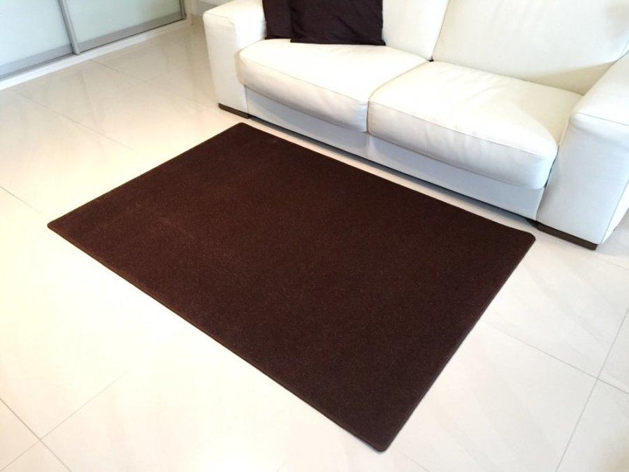 Hnědý kusový moderní koberec Eton - délka 80 cm a šířka 50 cm