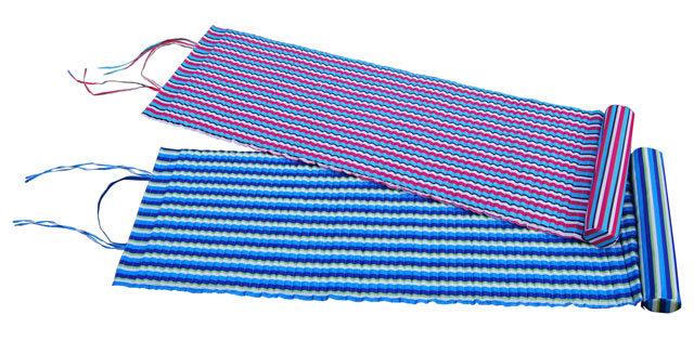 Modré plážové lehátko s podhlavníkem - délka 184 cm, šířka 55 cm a výška 1,5 cm