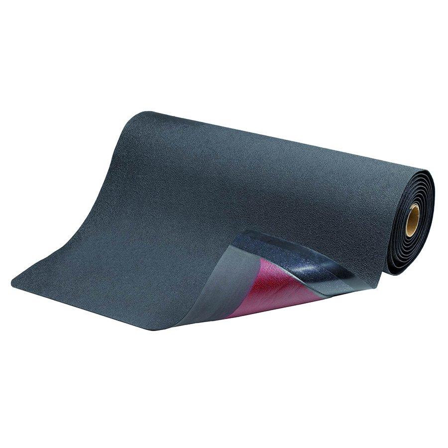 Černá metrážová protiskluzová protiúnavová průmyslová rohož pro svářeče Spark Resistant - výška 1,27 cm
