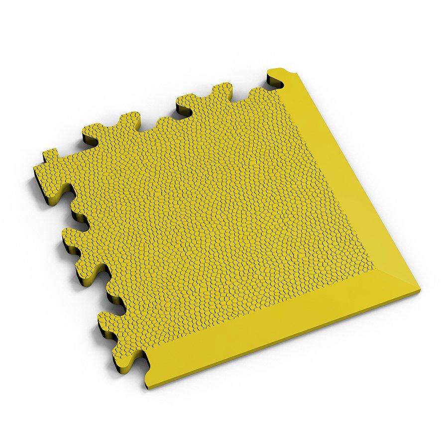 Žlutý plastový vinylový rohový nájezd 2026 (kůže), Fortelock - délka 14 cm, šířka 14 cm a výška 0,7 cm