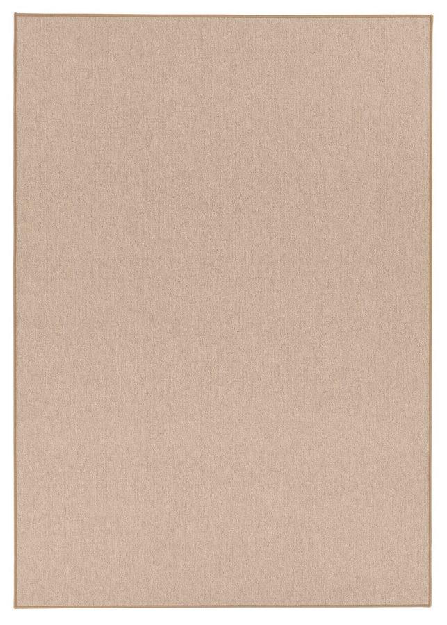 Béžový kusový koberec běhoun - šířka 80 cm