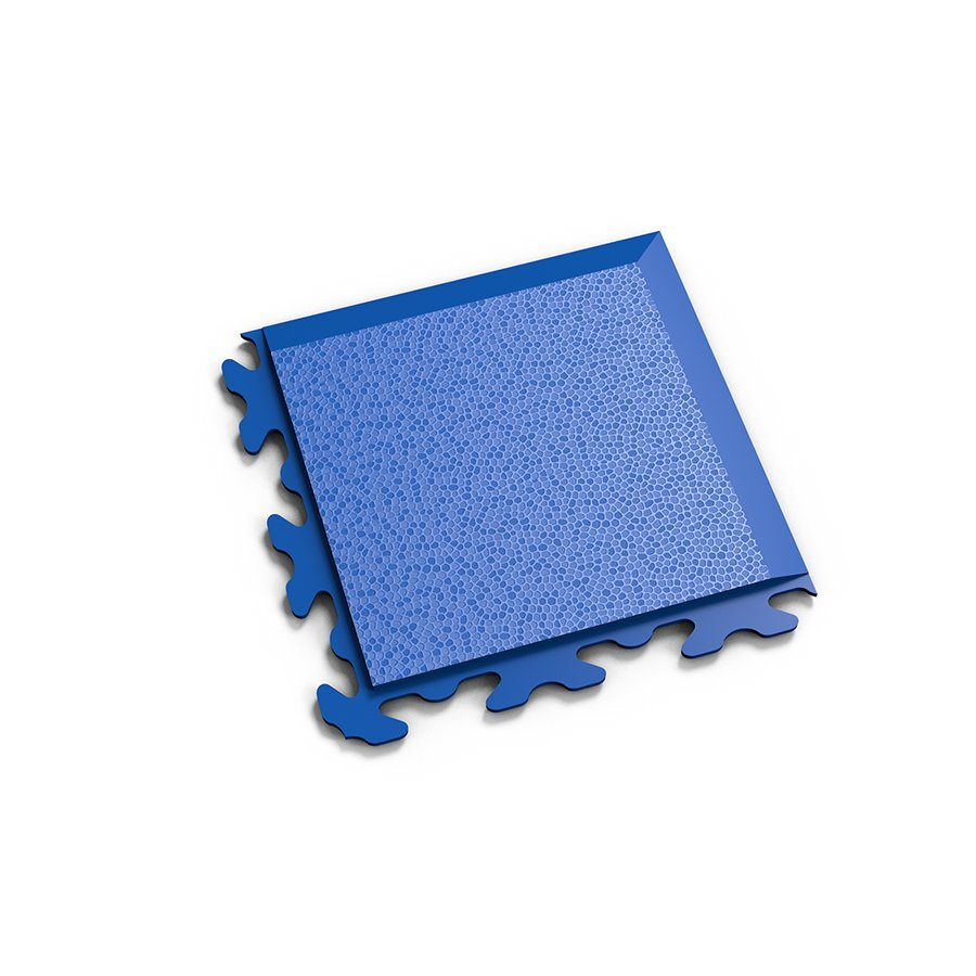 "Modrý plastový vinylový rohový nájezd ""typ B"" Invisible 2037 (hadí kůže), Fortelock - délka 14,5 cm, šířka 14,5 cm a výška 0,67 cm"