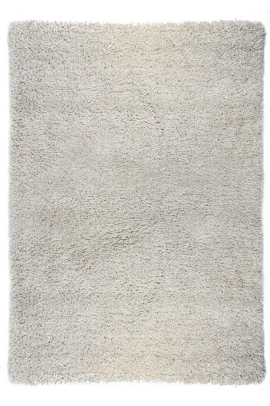 Bílý kusový koberec Shaggy s vysokým vlasem