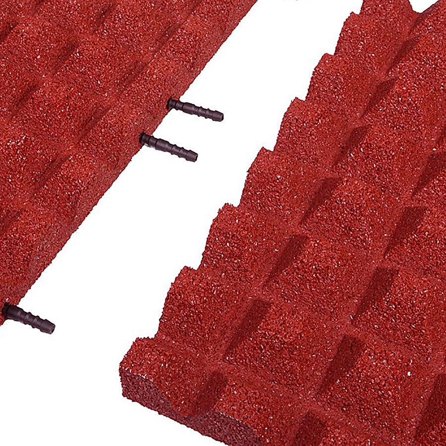 Červená gumová krajová deska (V45/R28) - délka 50 cm, šířka 25 cm a výška 4,5 cm