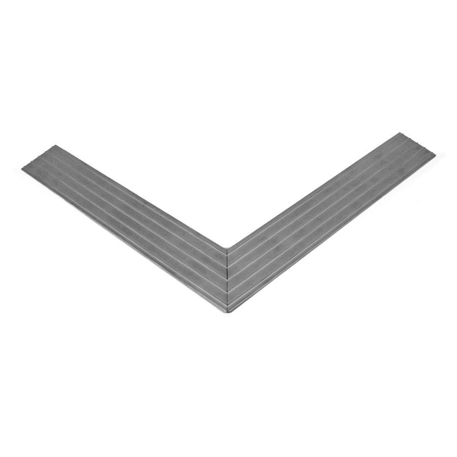 Hliníkový náběhový rám pro vstupní rohože a čistící zóny 100 x 100 cm - šířka 4,5 cm a výška 1 cm