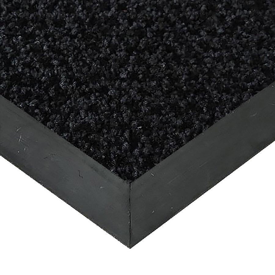 Černá textilní vstupní vnitřní čistící rohož Alanis, FLOMAT - délka 70 cm, šířka 100 cm a výška 0,75 cm