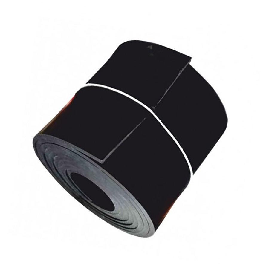 Černá pryžová NBR deska - šířka 120 cm a výška 2 cm