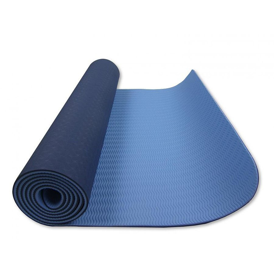 Modrá dvouvrstvá pěnová karimatka - délka 182 cm, šířka 61 cm a výška 0,6 cm