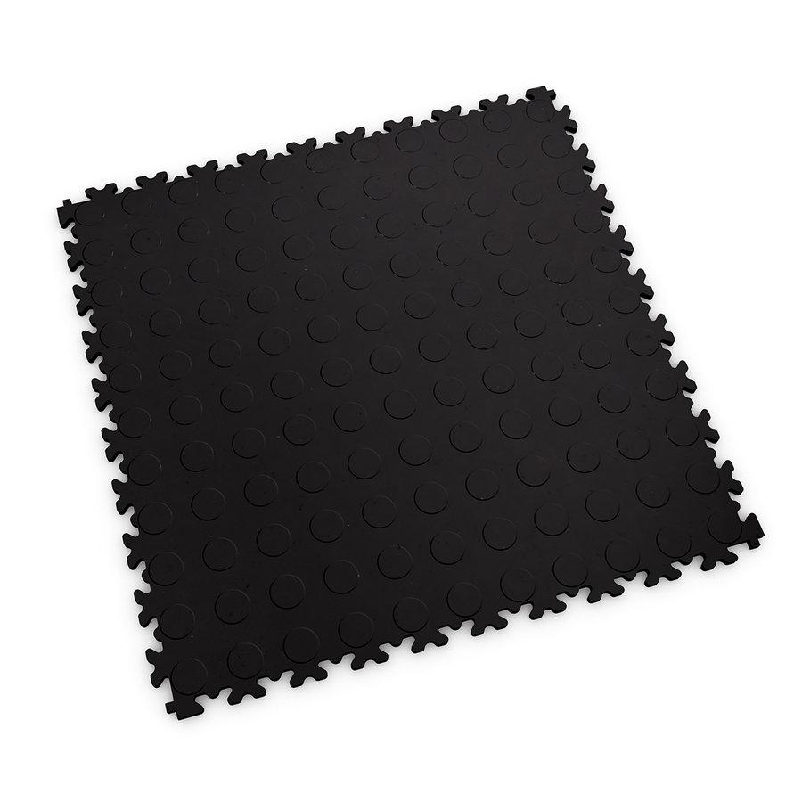 Černá vinylová plastová zátěžová dlaždice Eco 2040 (penízky), Fortelock - délka 51 cm, šířka 51 cm a výška 0,7 cm