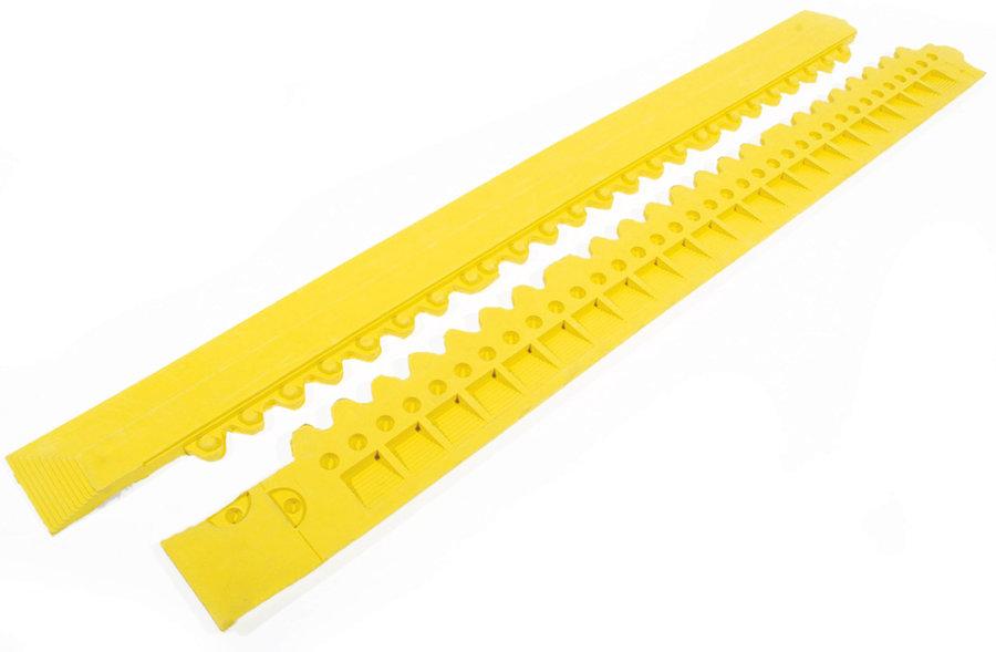 """Žlutá gumová náběhová hrana """"samec"""" (100% nitrilová pryž) pro rohože Fatigue - délka 100 cm a šířka 7,5 cm"""